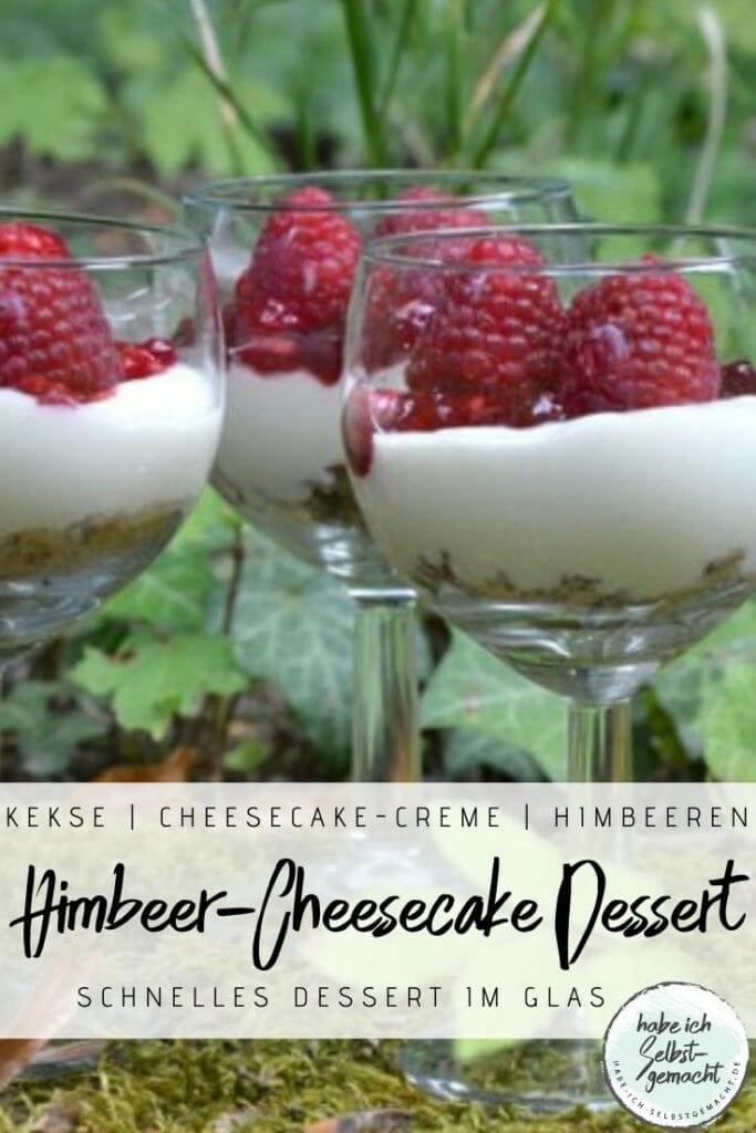 Himbeer Cheesecake Dessert im Glas
