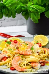 Spaghetti mit Garnelen Rezept