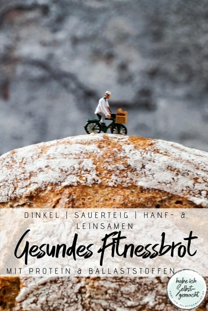 Gesundes Fitnessbrot mit Dinkel, Leinsamen und Hanfsamen