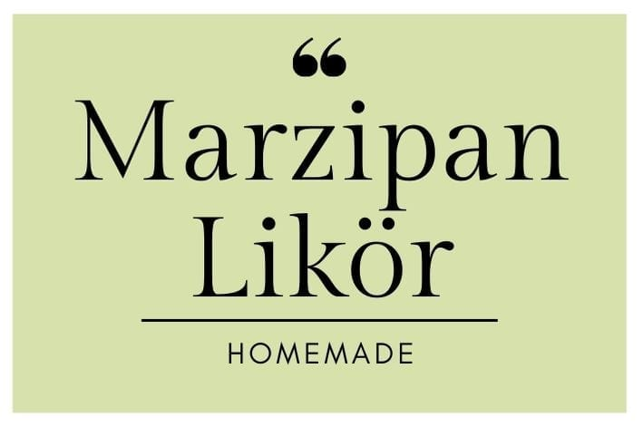 Marzipan Likör Etikett