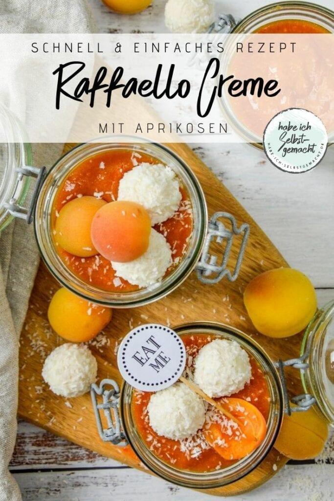 Kokoscreme mit Raffaello und Aprikosen