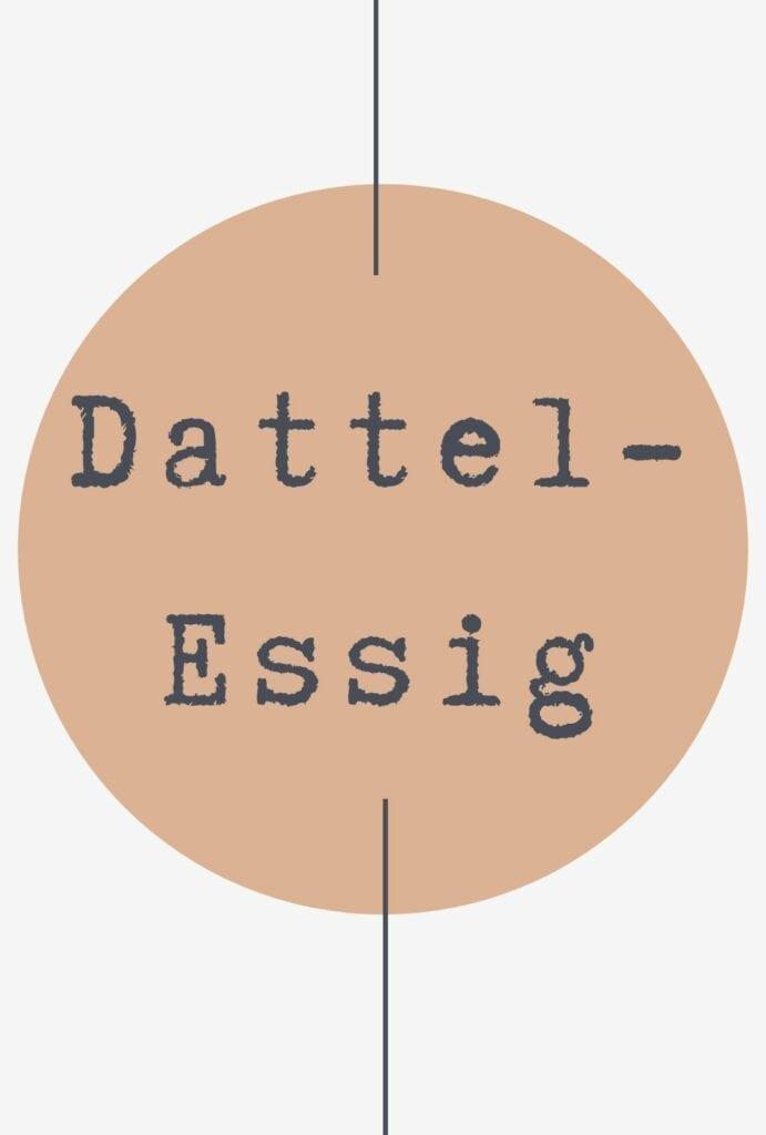 Freebie Etikett Dattel Essig