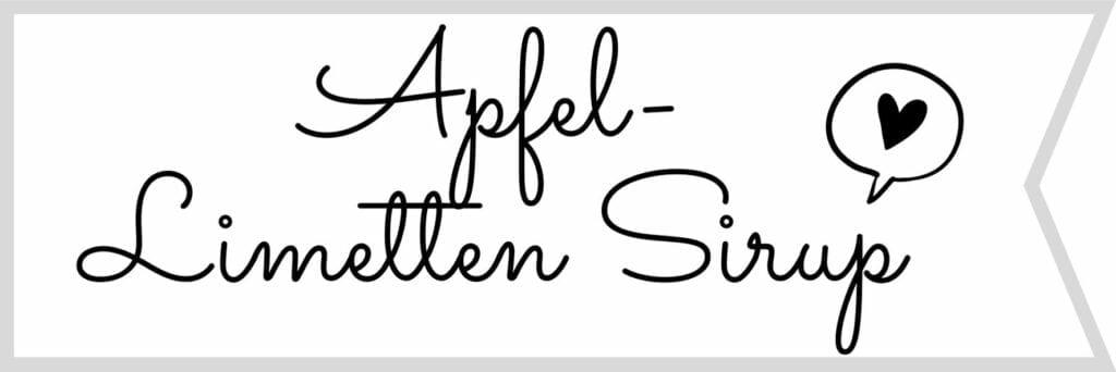 Etikett Apfel Limetten Sirup