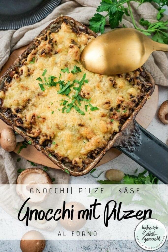 Überbackene Gnocchi mit Pilzen
