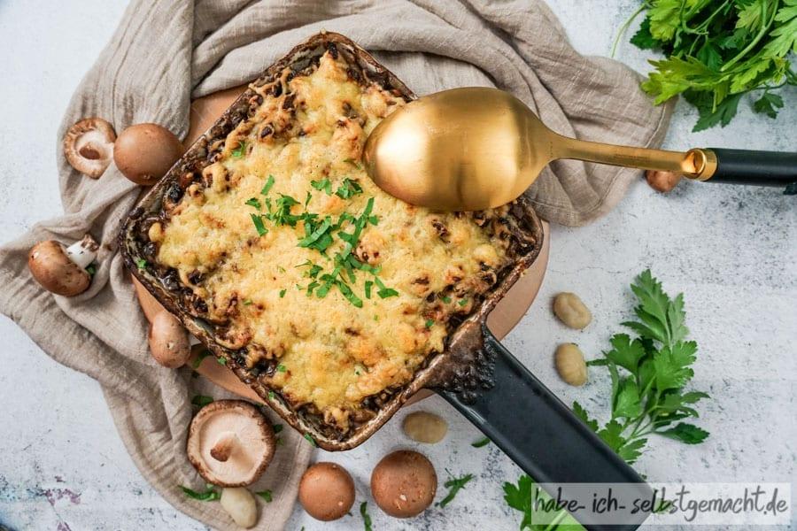 Gnocci al forno mit Pilzen