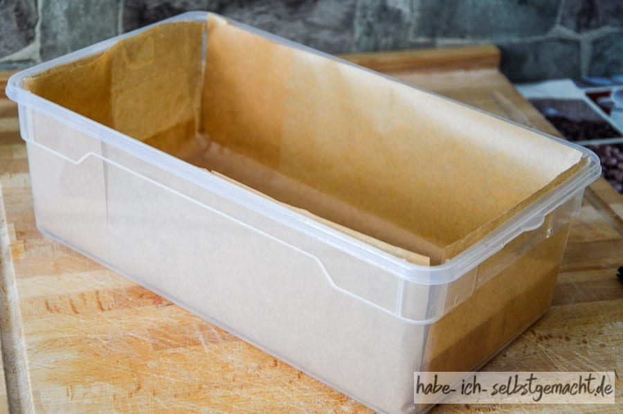 Seife selber machen - Form für die Basisseife