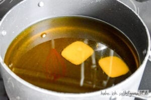 Seife selber machen - Fett schmelzen