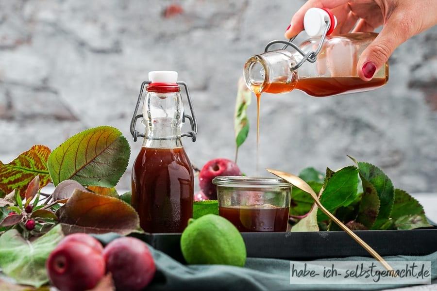 Limonlu sağlıklı elma şurubu
