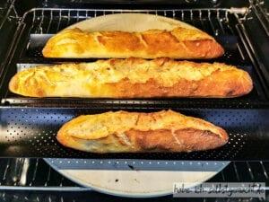 Baguettes im Ofen
