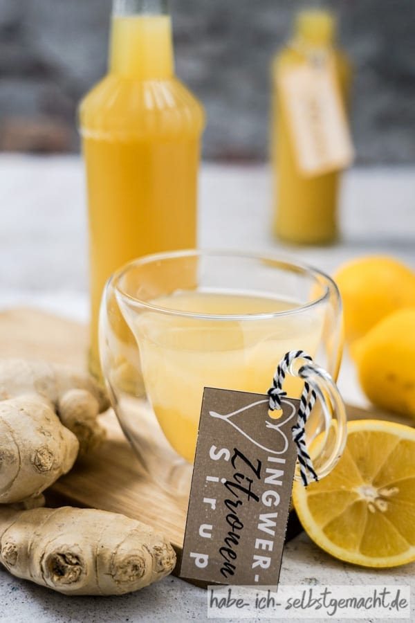 Ingwer-Zitronen Sirup