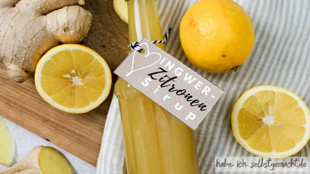 Ingwer-Zitronen Sirup auch als Erkältungstee