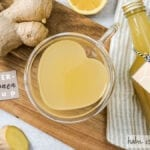 Ingwer Zitronen Sirup Erkältungstee