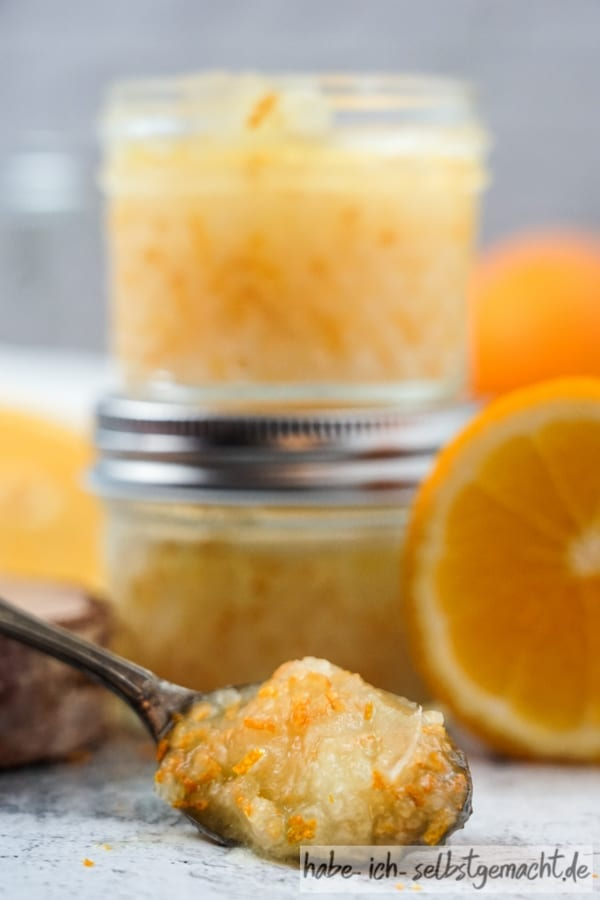 Portakallı hindistan cevizi peelingi