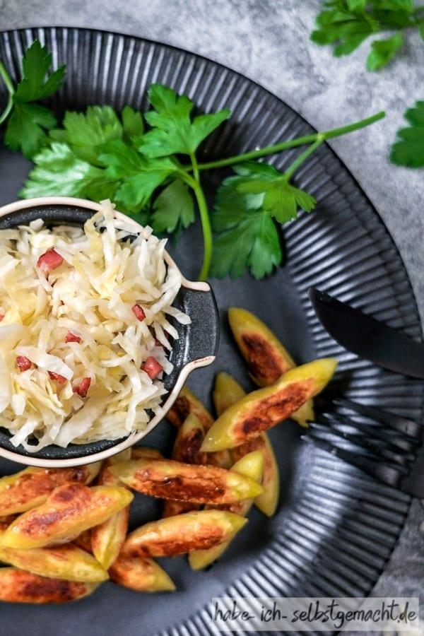 Krautschupfnudeln Sauerkraut