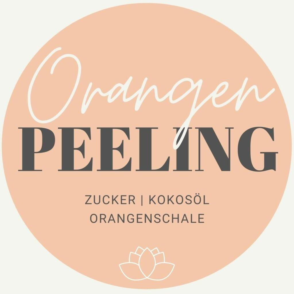 Orangen Körperpeeling Etikett