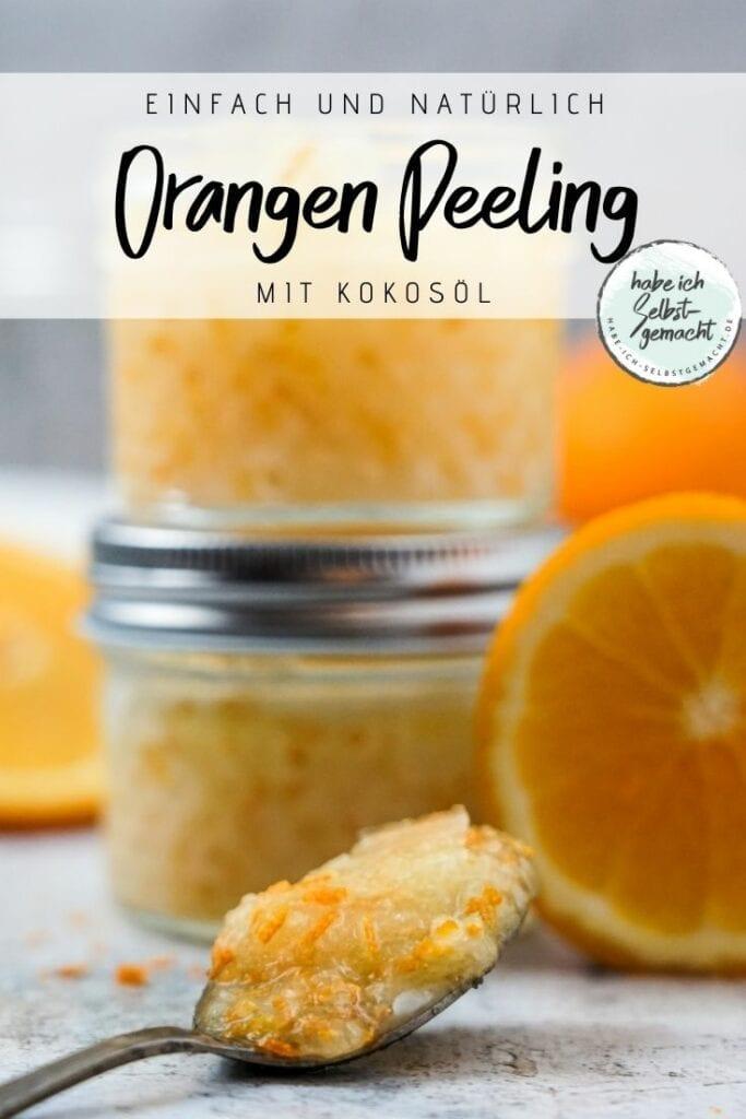 Körperpeeling mit Orange