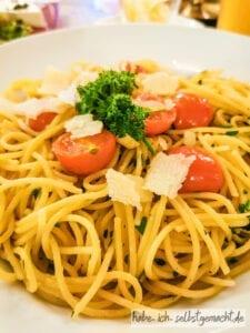 Spaghetti Aglio e olio Feuer und Stein