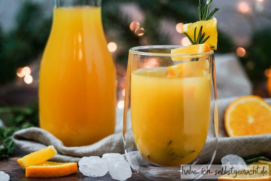 Vanille-Orangen Glühwein selber machen