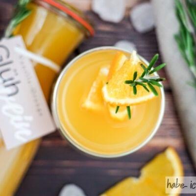 Weißen Vanille-Orangen Glühwein selber machen