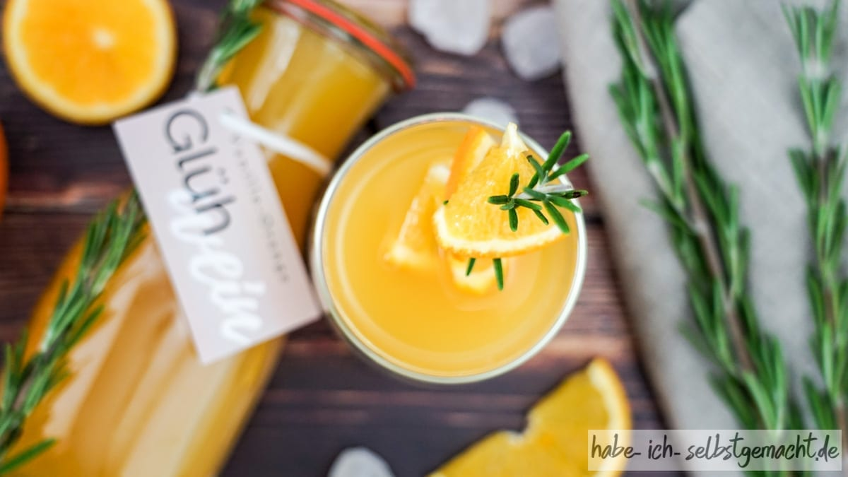 Weißer Orangen Glühwein Rezept selber machen