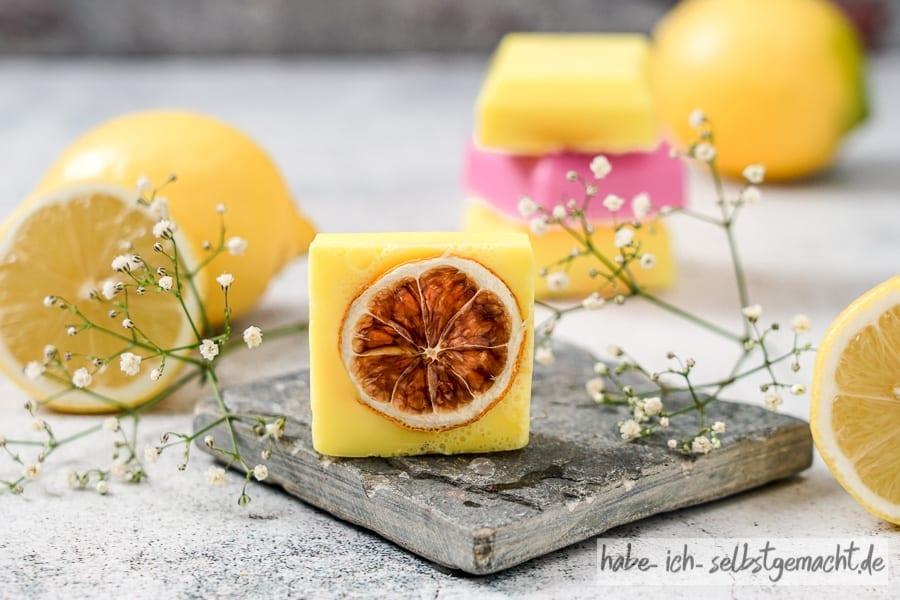 Selbstgemachte Zitronenseife