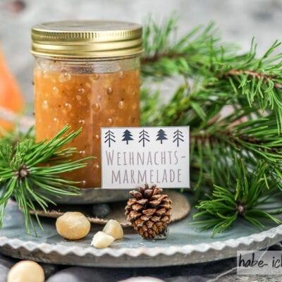 Weihnachtsmarmelade (Bratapfelmarmelade)