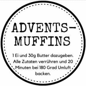 Etikett Weihnachtsmuffins