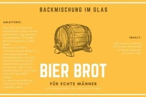 Bierbrot Backmischung im Glas Etikett