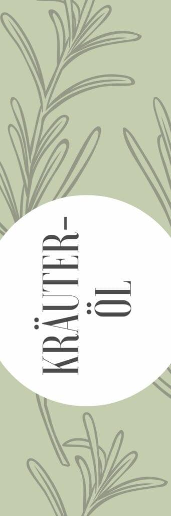 Etikett für Kräuteröl