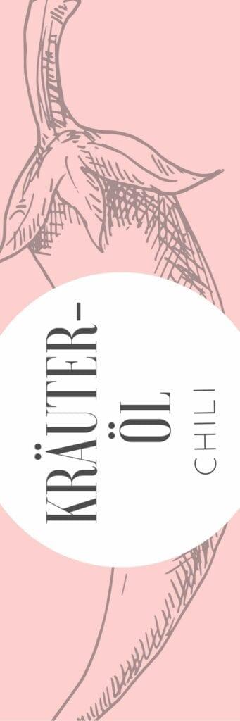 Etikett für Chili Öl