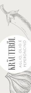 Etikett für Aglio Olio e Peperoncino Öl