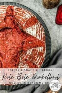Rote Bete Dinkelbrot Pinterest Flyer