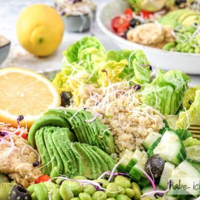 Gesunde Quinoa Bowl (vegan)