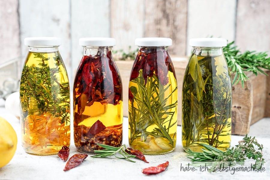 Gewürz- und Kräuteröl ganz einfach selber machen