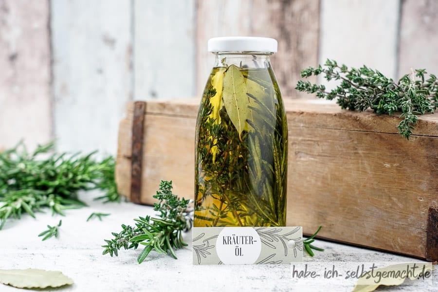 Gewürzöl Kräuteröl - Italienische Kräuter Öl