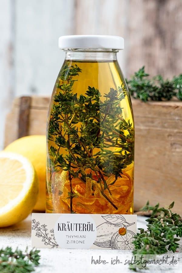 Gewürzöl Kräuteröl - Zitrone Thymian Öl