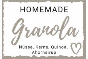 Granola Etikett einzeln