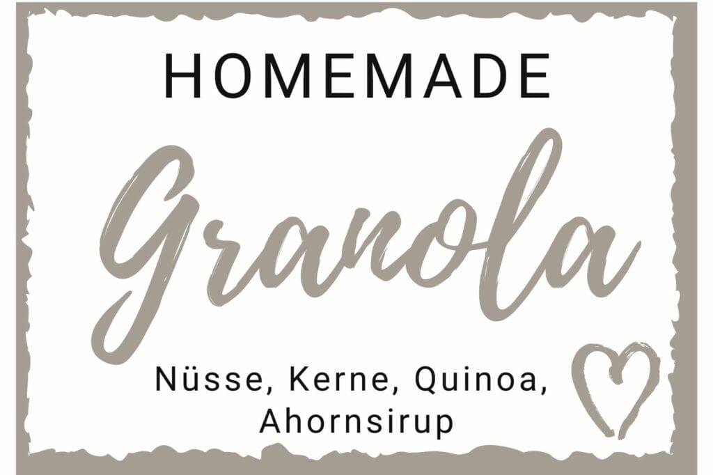 Granola Etikett