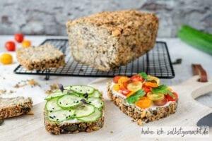 Saftiges Low Carb Brot mit wenigen Kohlenhydraten