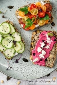 Low Carb Brot - belegt
