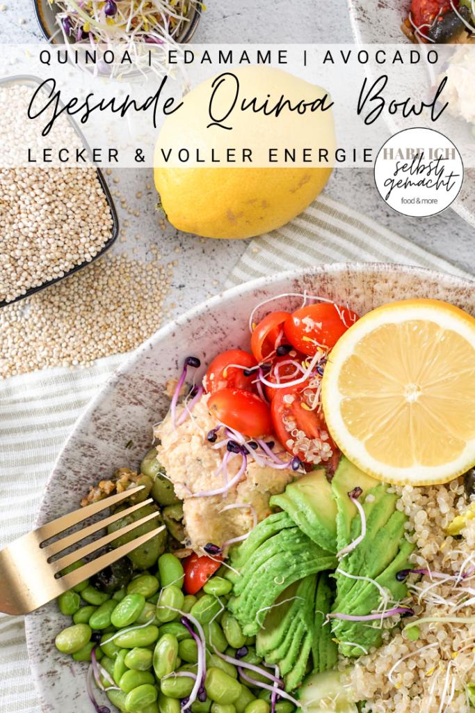 Vegane Bowl mit Quinoa und Avocado