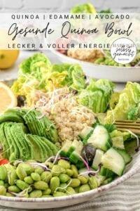 Quinoa Kichererbsen Bowl Pinterest Flyer