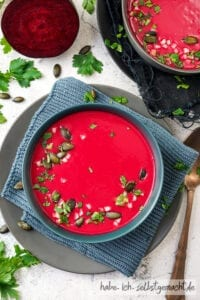 Rote Bete Apfel Suppe