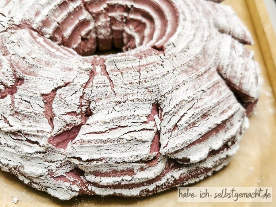 Rote Bete Walnussbrot - Einschneiden der Seiten