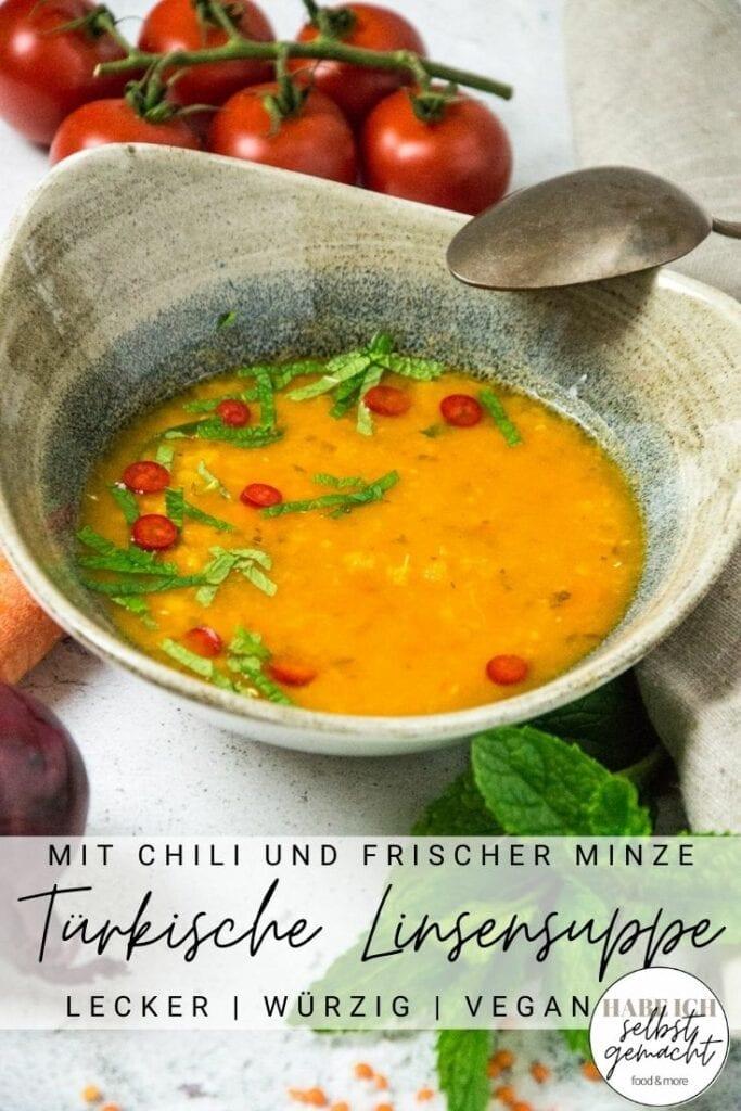 Türkische Linsensuppe Pinterest Flyer