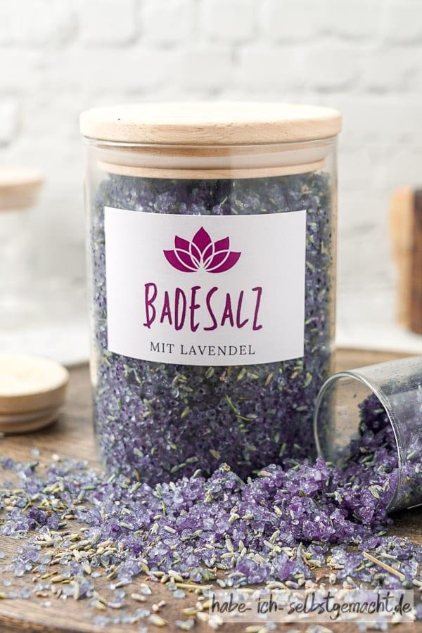 Badesalz mit Lavendel einfach selber machen