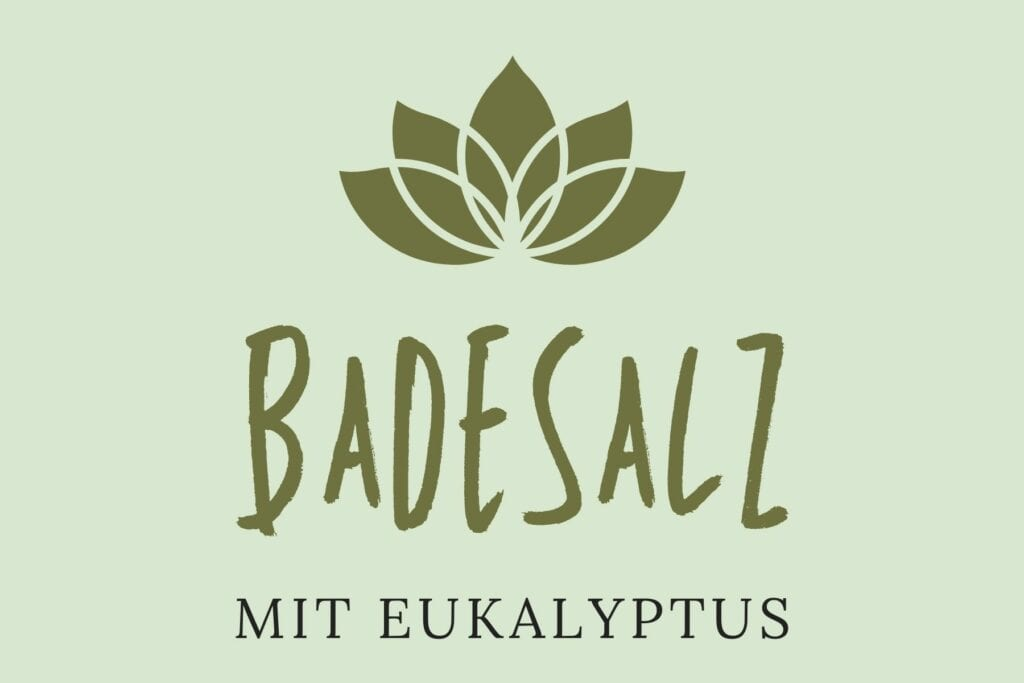 Badesalz Etikett - Eukalyptus groß