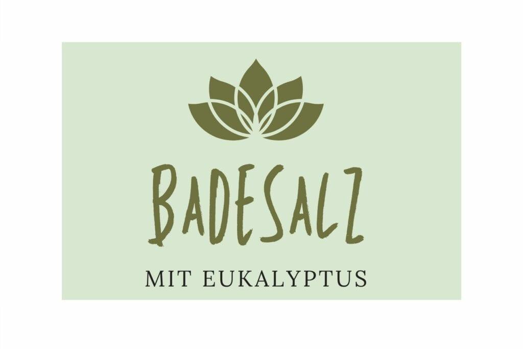 Badesalz Etikett - Eukalyptus klein
