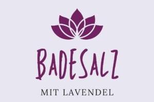 Badesalz Etikett - Lanvendel groß