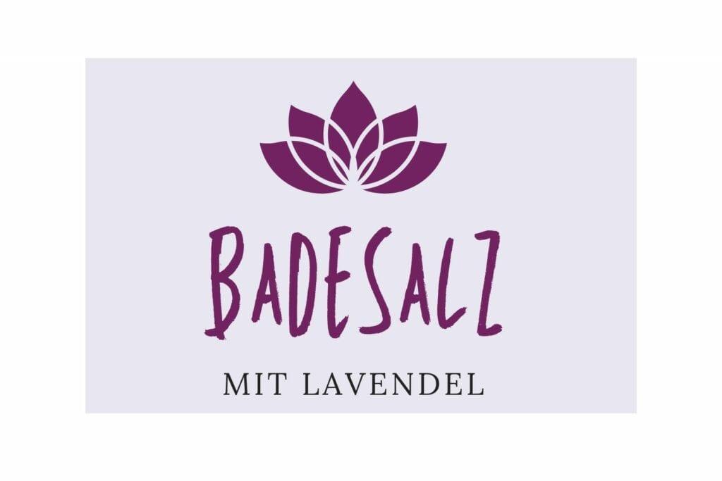 Badesalz Etikett - Lanvendel klein